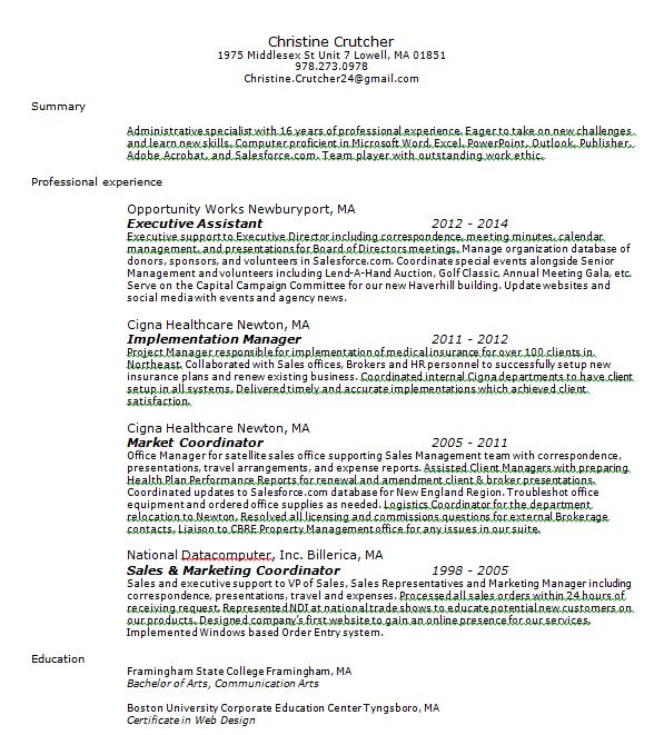 help wanted resume